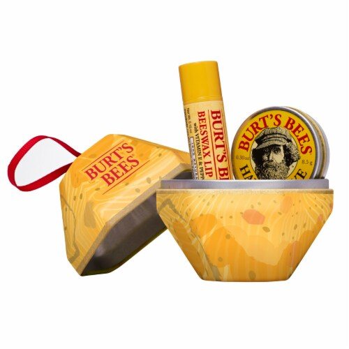 Burt's Bees Beeswax Lip Balm and Hand Salve Holiday Gift Set Perspective: front