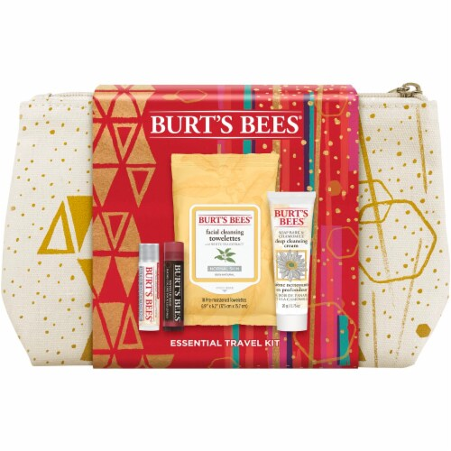 Burt's Bees Essential Travel Kit Holiday Gift Set Perspective: front