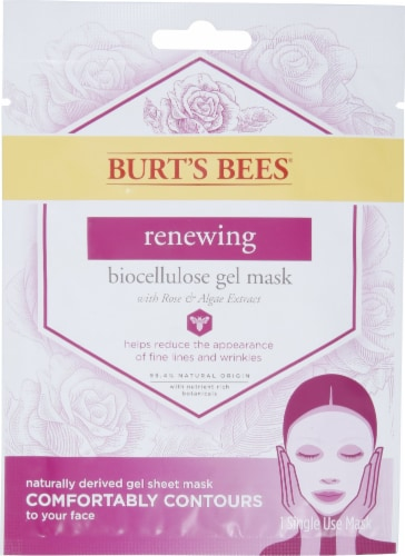 Burt's Bees Renewing Biocellulose Gel Face Mask Perspective: front