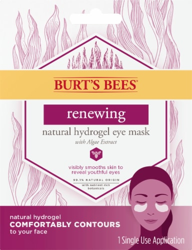 Burt's Bees Renewing Natural Hydrogel Eye Mask Perspective: front