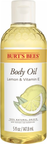 Burt's Bees Lemon & Vitamin E Bath and Body Oil Perspective: front