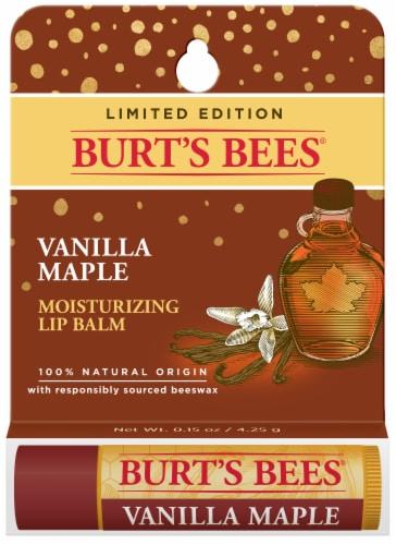 Burt's Bees Vanilla Maple Moisturizing Lip Balm Perspective: front