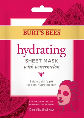 Burt's Bees Watermelon Hydrating Sheet Mask Perspective: front