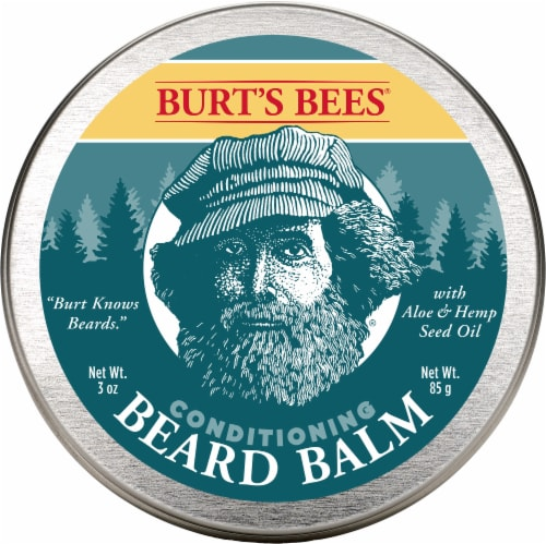 Burt's Bees Aloe & Hemp Seed Oil Conditioning Beard Balm Perspective: front