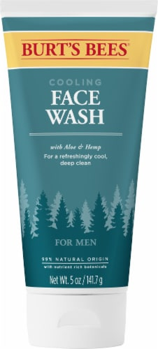Burt's Bees Aloe & Hemp Cooling Face Wash for Men Perspective: front