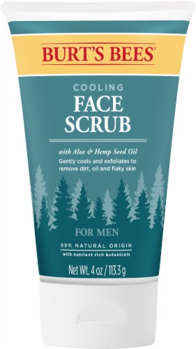 Burt's Bees Aloe & Hemp Cooling Face Scrub for Men Perspective: front