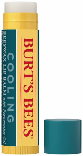 Burt's Bees® Peppermint Oil Cooling Beeswax Lip Balm Perspective: front
