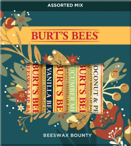 Burt's Bees Bounty Assorted Mix Holiday Gift Lip Balm Set Perspective: front