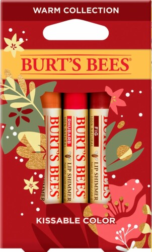 Burt's Bees Kissable Color Warm Collection Holiday Gift Set Perspective: front