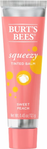 Burt's Bees Sweet Peach Squeezy Tinted Lip Balm Perspective: front