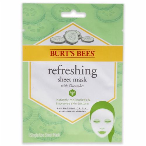Burt's Bees Refreshing Sheet Mask  Cucumber 1 Pc Perspective: front