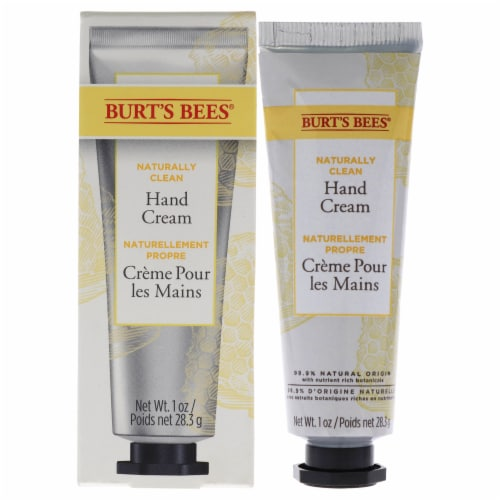 Burt's Bees Naturally Clean Hand Cream 1 oz Perspective: front