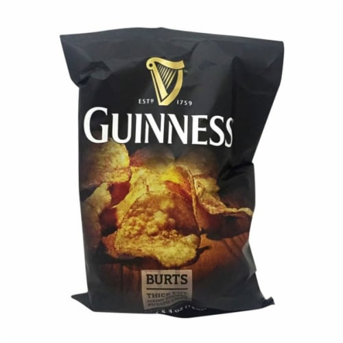 Guinness Burts Potato Chips Perspective: front