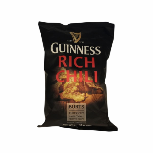 Guinness Burts Rich Chili Potato Chips Perspective: front