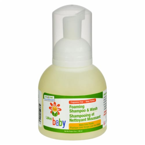 Lafe's Fragrance Free Baby Foaming Shampoo and Wash Perspective: front