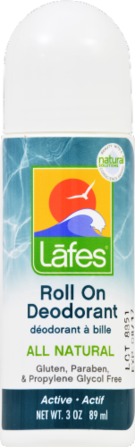 Lafes All Natural Roll On Deodorant Perspective: front