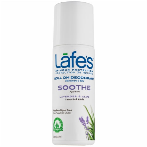 Lafes Lavender Roll On Deodorant Perspective: front