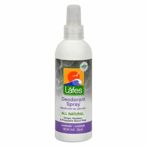 Lafe's  Natural Deodorant Spray Lavender Perspective: front