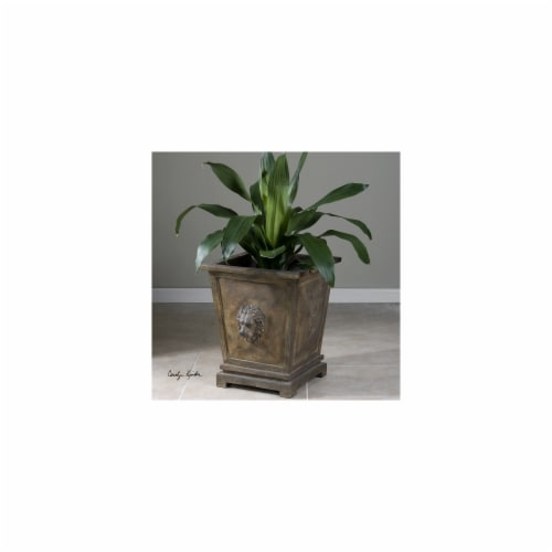Uttermost Tobia Burnt Terracotta Planter Perspective: front