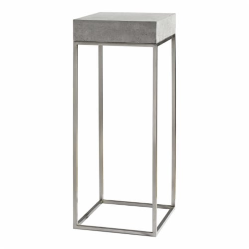 Uttermost Jude Plant Stand in Gray Perspective: front