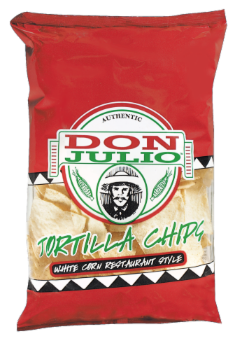 Don Julio White Tortilla Chips Perspective: front