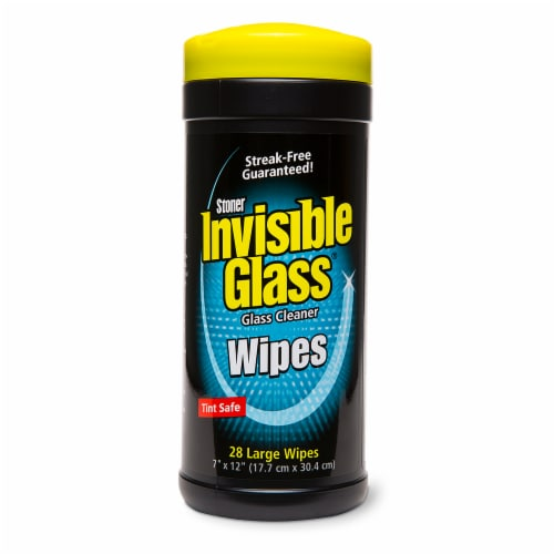Stoner Invisible Glass Streak-Free Glass Cleaner Wipes Perspective: front
