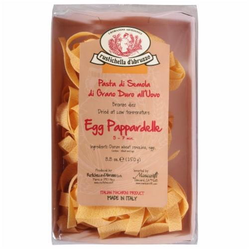 Rustichella d'Abruzzo Egg Pappardelle Pasta Perspective: front