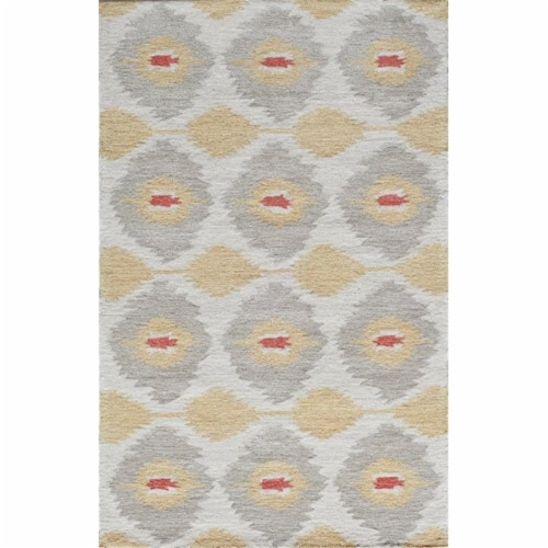 Rugs America 25126 Jourdan Abrash Gold Rectangle Geometric Rug, 8 x 10 ft. Perspective: front