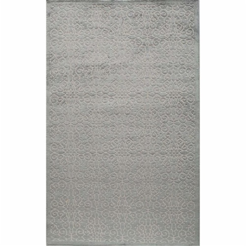 Rugs America 25961 Riviera Light Blue Rectangle Oriental Rug, 8 x 10 ft. Perspective: front