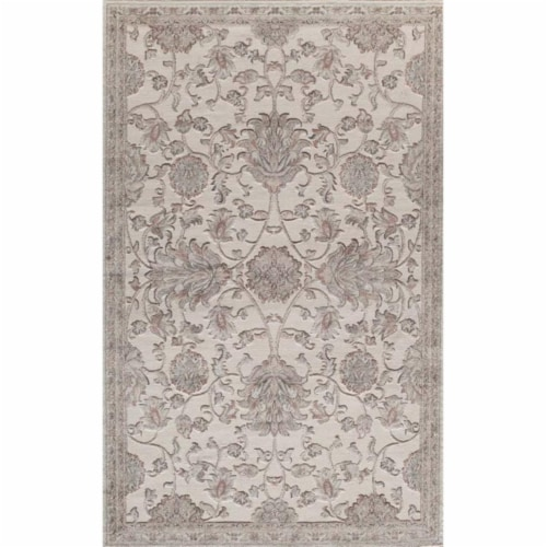 Rugs America 26021 Riviera Cream Rectangle Oriental Rug, 8 x 10 ft. Perspective: front