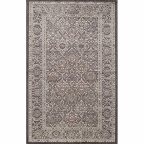 Rugs America 26078 Riviera Black Rectangle Oriental Rug, 8 x 10 ft. Perspective: front