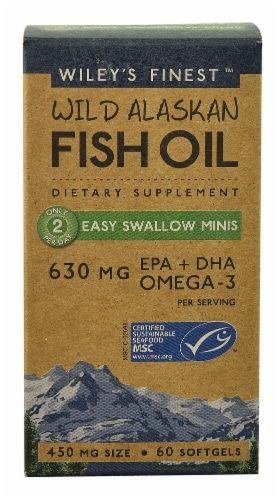 Wiley's Finest  Wild Alaskan Fish Oil Perspective: front