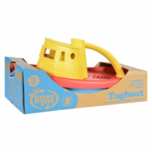 Green Toys Tug Boat - Yellow Perspective: front