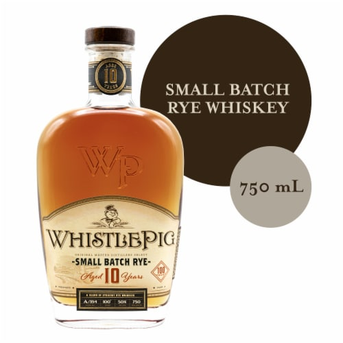 Whistle Pig Straight Rye Whiskey Perspective: front