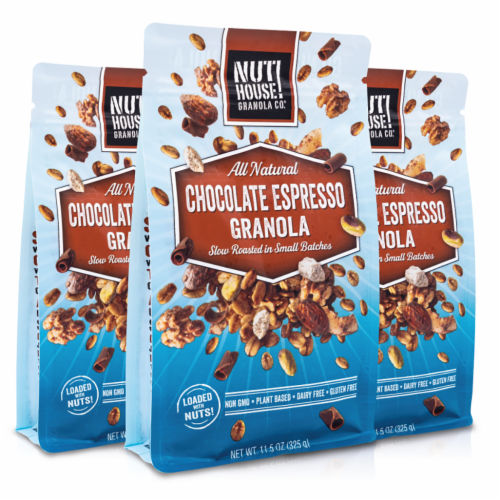 Granola, Chocolate Espresso, 3x11.5oz Perspective: front