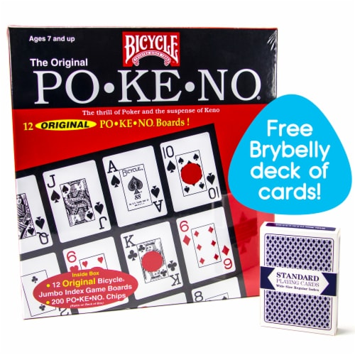 Bicycle Po-Ke-No with Deck of Brybelly Playing Cards, Red Perspective: front