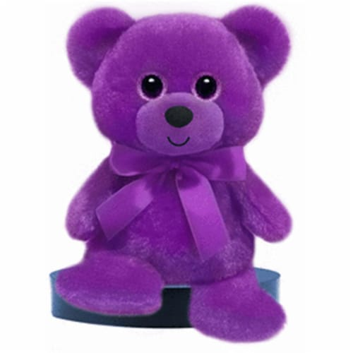 Mayflower 79764 6 in. Rainbow Bear Plush - Purple Perspective: front