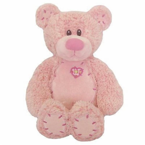 Mayflower 65166 8 in. Tender Teddy Pink Plush Perspective: front