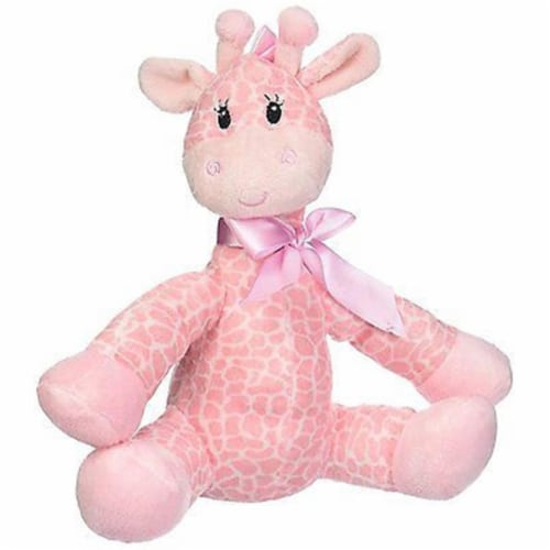 Mayflower 52446 8.5 in. Jingles Giraffe Pink Plush Perspective: front