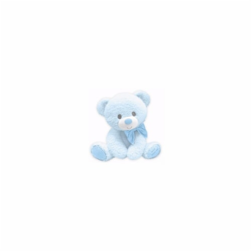 First & Main 7 in. Tumbles Bear with Jesus Love Me Plush Toy, Blue Perspective: front