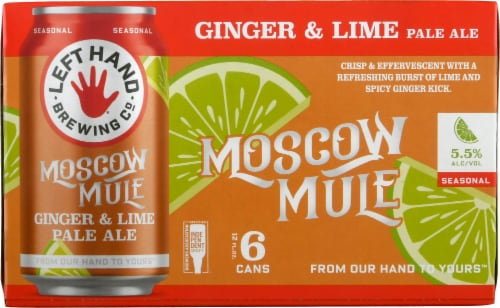 Left Hand Brewing Co. Found Moscow Mule Ginger & Lime Pale Ale Perspective: front