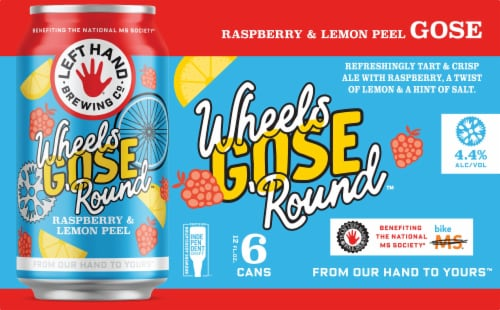 Left Hand Brewing Co. Wheels Gose 'Round Beer 6 Cans Perspective: front