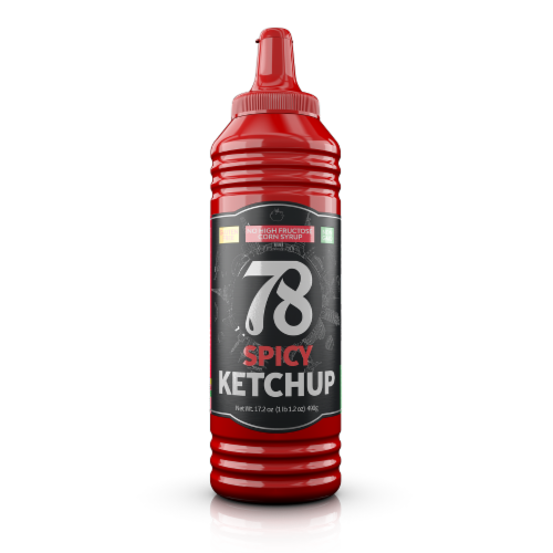 78 Ketchup Spicy  4 Pack Perspective: front