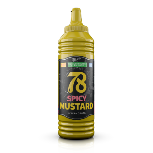 78 Mustard Spicy  - 12 Pack Perspective: front