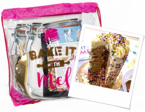 Bake it With Mel -  DIY Funfetti COOKIE CAKE KIT Perspective: front