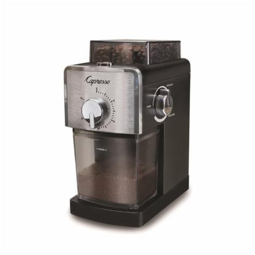Capresso 6405617 8 oz Plastic & Steel Black Coffee Grinder Perspective: front