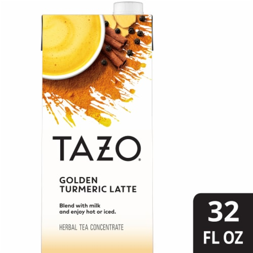Tazo Golden Turmeric Latte Herbal Tea Concentrate Perspective: front
