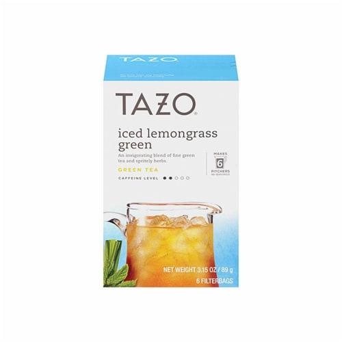 Tazo Iced Lemongrass Green Tea Perspective: front