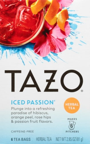 Tazo Iced Passion Herbal Tea Bags Perspective: front