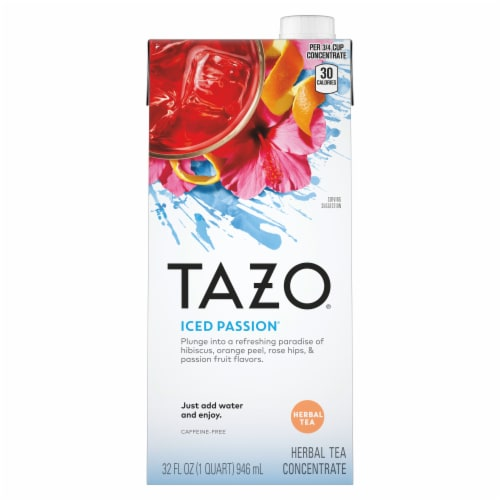 Tazo Iced Passion® Caffeine-Free Herbal Tea Concentrate Perspective: front